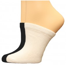 FeetPeople Premium Clog Socks 2 Pair, Black/White