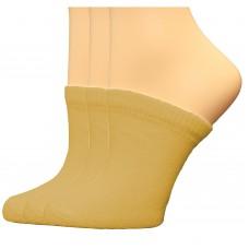 FeetPeople Premium Clog Socks 3 Pair, Nude