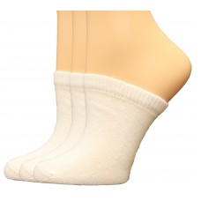 FeetPeople Premium Clog Socks 3 Pair, White