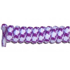 FeetPeople Curly Laces, White/Purple
