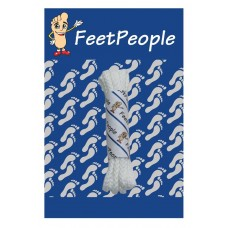 FeetPeople Brogue Casual Dress Laces, White