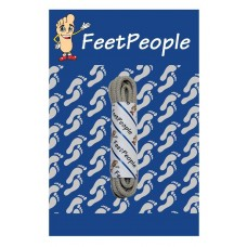 FeetPeople Round Dress Laces, Medium Mocha