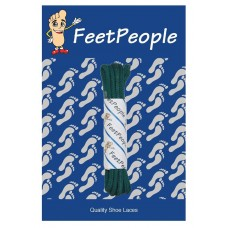 FeetPeople Waxed Round Dress Laces, Hunter Green