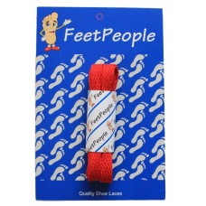 FeetPeople Flat Laces For Boots And Shoes, Red