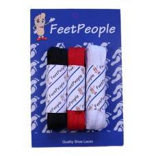 FeetPeople Flat Lace Bundle, 3 Pr, Texans