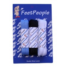 FeetPeople Flat Lace Bundle, 3 Pr, Panthers