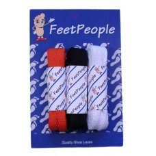 FeetPeople Flat Lace Bundle, 3 Pr, Bengals