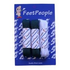 FeetPeople Flat Lace Bundle, 3 Pr, Jets