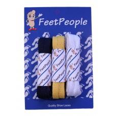 FeetPeople Flat Lace Bundle, 3 Pr, Rams