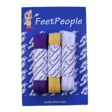 FeetPeople Flat Lace Bundle, 3 Pr, Vikings