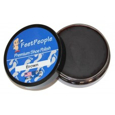FeetPeople Premium Shoe Polish, 1.625 Oz., Brown