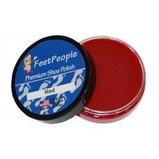 FeetPeople Premium Shoe Polish, 1.625 Oz., Red
