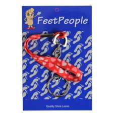 FeetPeople Printed Hearts Key Chain