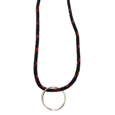 FeetPeople Round Lace Key Chain, Black With Red Chip