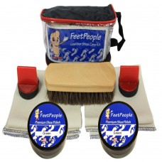 FeetPeople Premium Leather Care Kit with Travel Bag, Green