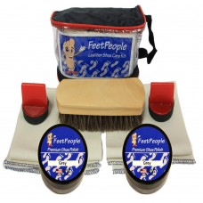 FeetPeople Premium Leather Care Kit with Travel Bag, Grey
