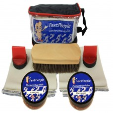 FeetPeople Premium Leather Care Kit with Travel Bag, Mahogany