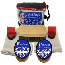 FeetPeople Premium Leather Care Kit with Travel Bag, Red