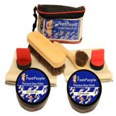 FeetPeople Ultimate Leather Care Kit with Travel Bag, Cordovan