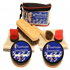 FeetPeople Ultimate Leather Care Kit with Travel Bag, Tan