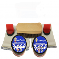 FeetPeople Premium Leather Care Refill Kit, Red/Oxblood