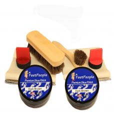 FeetPeople Ultimate Leather Refill Kit, Dark Brown