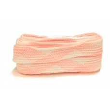 FeetPeople High Quality Fat Laces For Boots And Shoes, Pink/White Argyle