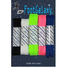 FootGalaxy High Quality Flat Laces For Boots And Shoes (5 Pair Pack)
