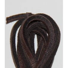 FootGalaxy Brown Leather Laces for Boots and Shoes