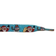 "FootGalaxy 45"" Christmas Snowman/Santa Printed Shoe Laces"