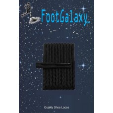 FootGalaxy High Quality Round Laces For Boots And Shoes, Black