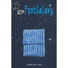 FootGalaxy High Quality Round Laces For Boots And Shoes, Carolina Blue With White Chip