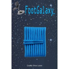 FootGalaxy High Quality Round Laces For Boots And Shoes, Columbia Blue
