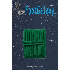 FootGalaxy High Quality Round Laces For Boots And Shoes, Kelly Green