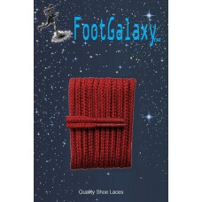 FootGalaxy High Quality Round Laces For Boots And Shoes, Maroon