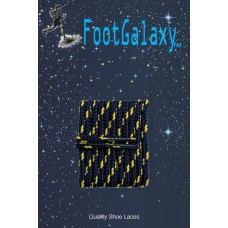 FootGalaxy High Quality Round Laces For Boots And Shoes, Navy With Gold Chip