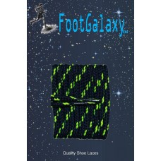FootGalaxy High Quality Round Laces For Boots And Shoes, Navy With Neon Yellow Chip