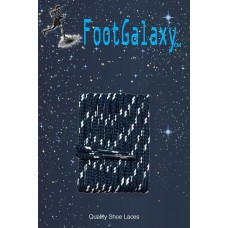 FootGalaxy High Quality Round Laces For Boots And Shoes, Navy With White Chip
