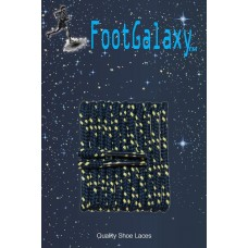 FootGalaxy High Quality Round Laces For Boots And Shoes, Navy With Yellow Chip