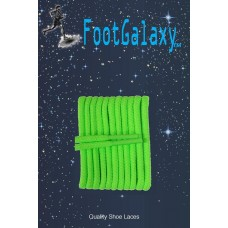 FootGalaxy High Quality Round Laces For Boots And Shoes, Neon Green
