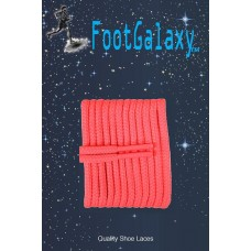 FootGalaxy High Quality Round Laces For Boots And Shoes, Neon Pink