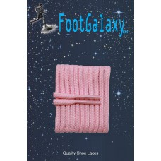 FootGalaxy High Quality Round Laces For Boots And Shoes, Pink