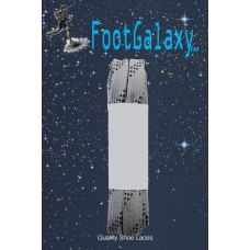 FootGalaxy Strong Flat Laces, Gray Reinforced w/ Black Kevlar