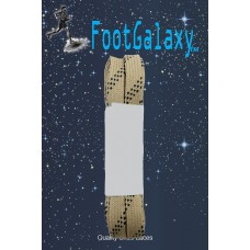 FootGalaxy Strong Flat Laces, Tan Reinforced w/ Black Kevlar