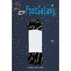 FootGalaxy Strong Round Laces, Black Reinforced w/ Natural Kevlar