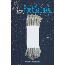 FootGalaxy Strong Round Laces, Gray Reinforced w/ Natural Kevlar