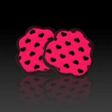 Foot Petals Tip Toes (Black with Pink and Black)