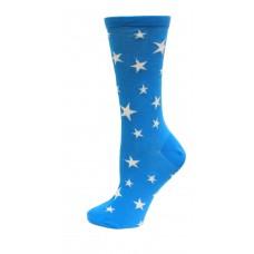 HotSox Glow In The Dark Stars Socks, Teal , 1 Pair, Women Shoe 4-10