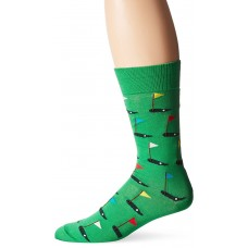 Hot Sox Men's Novelty Sporting Crew Socks, Golf (Green), Shoe Size: 6-12