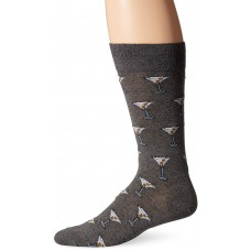 Hot Sox Men's Food and Booze Novelty Casual Crew Socks, Martini (Charcoal Heather), Shoe Size: 6-12